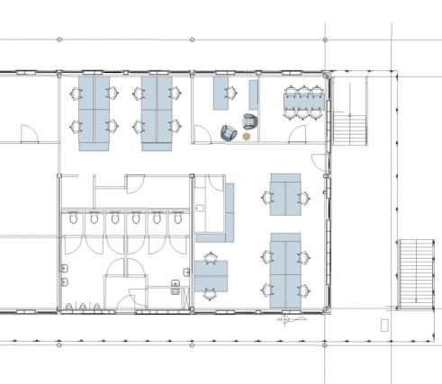 3e verdieping schets indeling